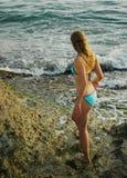 Sulle rocce siciliane fotografia stock