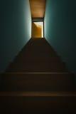 Sulle scale dal seminterrato Fotografie Stock Libere da Diritti