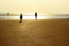 Sulle spiagge Fotografia Stock Libera da Diritti