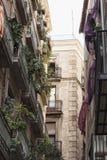 Sulle vie del quarto gotico a Barcellona Fotografia Stock