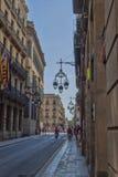 Sulle vie del quarto gotico a Barcellona Immagine Stock