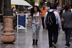 Sulle vie di Cartagine fotografia stock