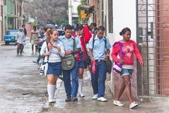 Sulle vie. La Cuba Immagini Stock Libere da Diritti