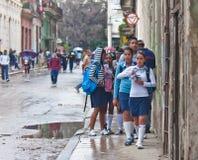 Sulle vie. La Cuba Fotografia Stock