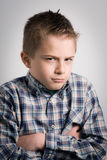 Sullen boy Stock Photo