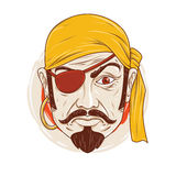 The Sullen Pirate. Pirate pout with one eye Royalty Free Stock Photography