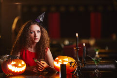 Sullen witch Royalty Free Stock Photos