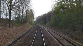 Sullo zug del treno di modo Immagini Stock