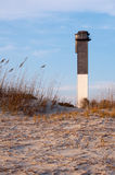 Sullvan's Island Lighthouse at Sunset Royalty Free Stock Images