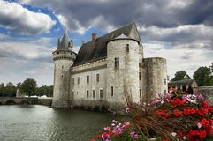 Sully-sur-Loire castle, France Stock Photo