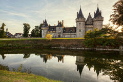 Sully-sur-loire. France. Chateau of the Loire Valley. Stock Photo