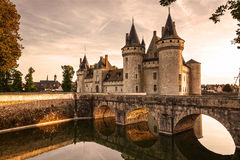 Sully-sur-loire. France. Chateau of the Loire Valley. royalty free stock images