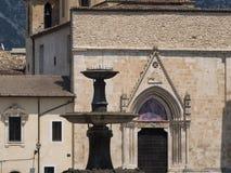 Sulmona Abruzzi, Itália, igreja de San Filippo Neri fotos de stock royalty free