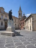 Sulmona Abruzzi, Italia, edificios históricos foto de archivo libre de regalías