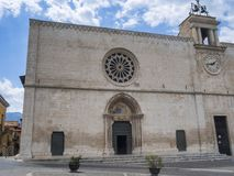 Sulmona Abruzzi, Italia, iglesia de Santa Maria della Tomba imagen de archivo libre de regalías