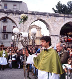 Sulmona, Italy. The feast of the Virgin Mary in Sulmona  medieval town. Abruzzo region, Italy Royalty Free Stock Images