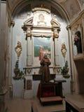 Sulmona - Kapel van Aalmoezenier Pio royalty-vrije stock foto
