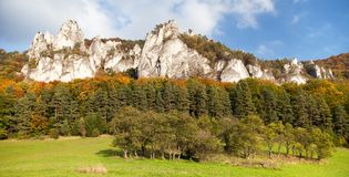 Sulov rockies - sulovske skaly - Slovakia Royalty Free Stock Photos