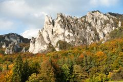 Sulov rockies - sulovske skaly - Slovakia Royalty Free Stock Photography