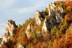 Sulov Rocks In Autumn, Strazov Mountains, Slovakia Stock Photography