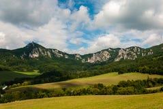 Sulov rocks - Súľov Hradná, Bytča, Slovakia. National nature reserve situated within the Súľov Mountains region of Slovakia Royalty Free Stock Image