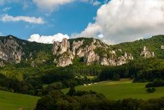 Sulov rocks - Súľov Hradná, Bytča, Slovakia. National nature reserve situated within the Súľov Mountains region of Slovakia Stock Image