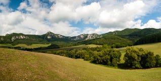 Sulov rocks - Súľov Hradná, Bytča, Slovakia. National nature reserve situated within the Súľov Mountains region of Slovakia Royalty Free Stock Images