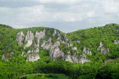 Sulov Rocks. Sulovske skaly national nature reserve situated in the Sulov Mountains region of Slovakia. Rocky crags take the shape of towers, cones, needles Royalty Free Stock Image