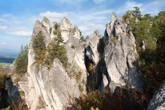 Sulovske Skaly rockies in slovakia Royalty Free Stock Images