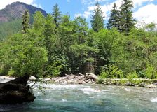 Sulphide Creek in North North Cascade mountains Stock Photography