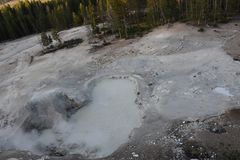 Sulphur Caldron at Yellowstone National Park. In the USA stock images