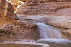 Sulphur Creek Falls. A small waterfall in Sulphur Creek Canyon in Capitol Reef National Park, Utah Stock Image