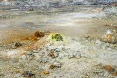 Earth with sulphur Stock Photo
