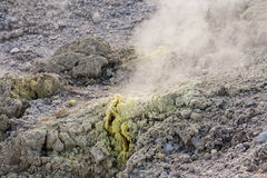 Sulphur fumaroles in Waiotapu Thermal Park Stock Photography