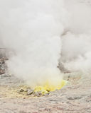 Sulphur fumes emitting from vent, Hokkaido Royalty Free Stock Photography