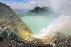 Sulphur at Kawah Ijen. The original and natural condition of the Sulphur at Kawah Ijen (Ijen Caldera) with its smog Royalty Free Stock Images