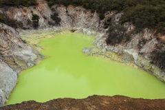 Sulphur lake in Waiotapu Stock Images