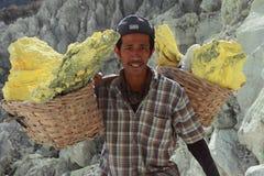 Sulphur miner Royalty Free Stock Photos