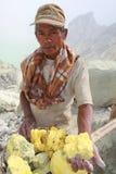 Sulphur miner Royalty Free Stock Image