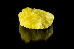 Sulphur Mineral Rock Royalty Free Stock Photo