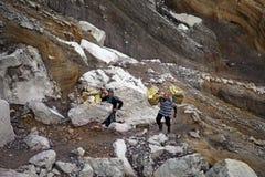 Sulphur mines Kawah Ijen in East Java, Indonesia Stock Image