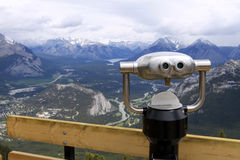 Sulphur Mountain. View finder at sulphur mountain in banff national park. Canada Stock Photography