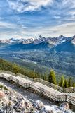 Sulphur Mountain in Banff, Alberta, Canada Royalty Free Stock Image