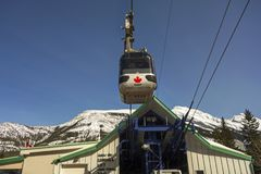 Sulphur Mountain Gondola Banff National Park royalty free stock photos