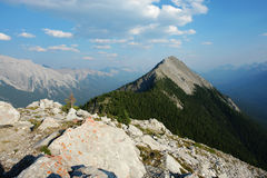 Sulphur mountain peak Royalty Free Stock Image