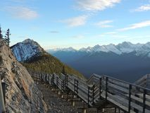 Sulphur Mountain walkway Stock Images