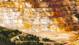 Sulphur open quarry Stock Photography