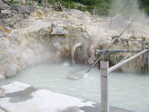 Sulphur pond on top of Fuji Hakone japanese park Stock Images