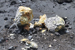 Sulphur rocks Stock Photos