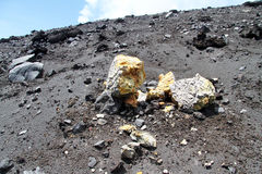 Sulphur rocks Royalty Free Stock Image